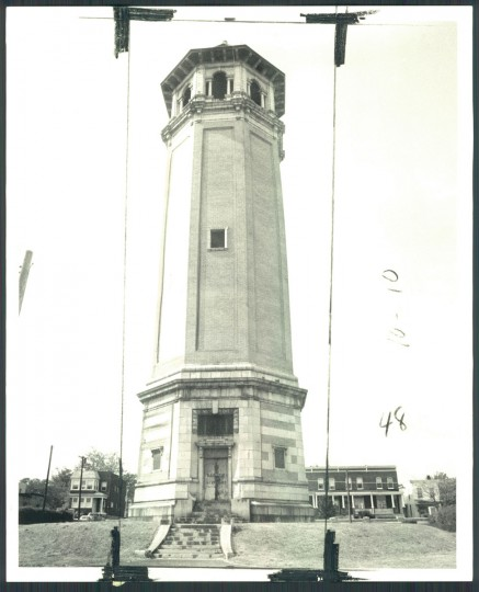 Roland Park Water Tower pictured on Oct. 5, 1970. (Baltimore Sun photo)
