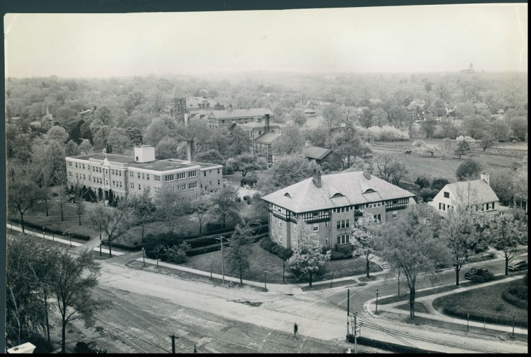 A view of Roland Park on May 5, 1941. (Baltimore Sun photo)