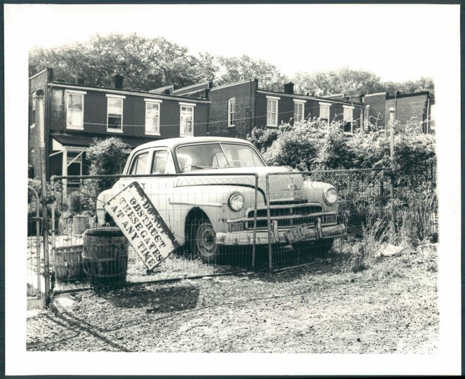 A view of Pleasant Place in Roland Park on May 26, 1961. (Baltimore Sun photo by William Mortimer)
