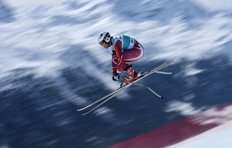 Aleksander Aamodt Kilde of Norway in action during the Audi FIS Alpine Skiing World Cup downhill training on March 15, 2016 in St Moritz, Switzerland. (Photo by Matthias Hangst/Getty Images)