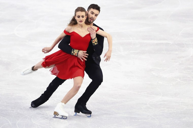 Gabriella Papadakis and Guillaume Cizeron of France skate in the Ice Dance Short program during day 3 of the ISU World Figure Skating Championships 2016 at TD Garden on March 30, 2016 in Boston, Massachusetts. (Photo by Maddie Meyer/Getty Images)