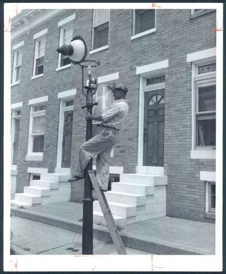 Grogan, East Baltimore on August 4, 1957. (Bodine).