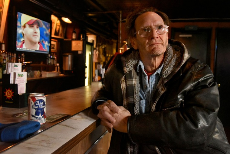 "Bob Piercey of Dundalk stops in for a Pabst Blue Ribbon. He said, ""They don't sell what I drink anymore: Milwaukee's Best. I don't go for craft beers. I think beer should taste like beer, not pumpkins."" (Amy Davis/Baltimore Sun)"