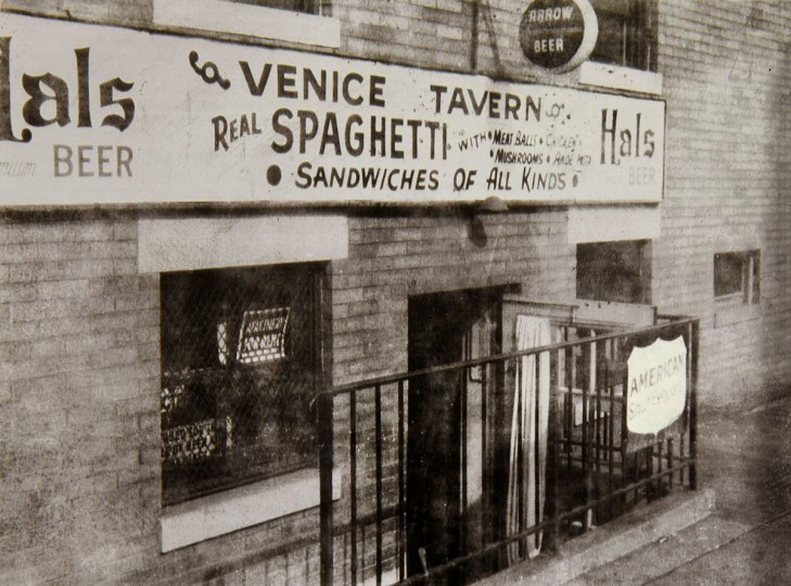 At one time the Venice Tavern, like most of the bars in the area, had little kitchens. It was known for the spaghetti and meatballs. (Courtesy of Frank DeSantis Jr.)