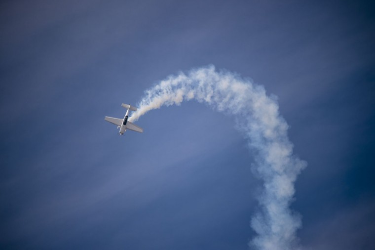 A Chilean Extra 300L aircraft performs during the XIX Air and Space Fair (FIDAE) in Santiago on March 28, 2016. (MARTIN BERNETTI/AFP/Getty Images)