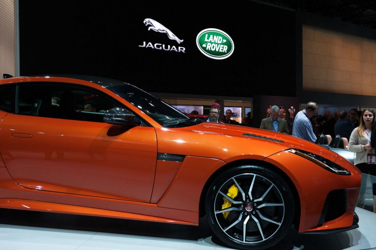 The Jaguar F-Type SVR is introduced at the New York International Auto Show at the Javits Center on March 23, 2016 in New York City. The luxury sports car has 567 horsepower and retails for over $125,000. (Photo by Bryan Thomas/Getty Images)