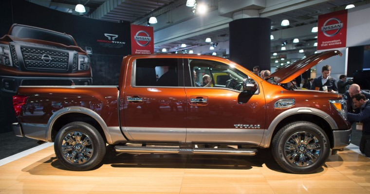 The 2017 Titan is on display March 24, 2016, at the New York International Auto Show. (DON EMMERT/AFP/Getty Images)