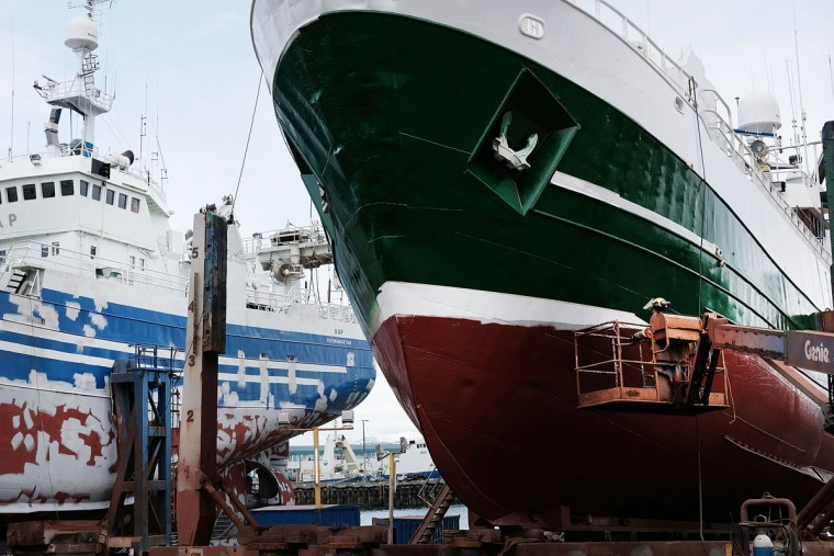 REYKJAVIK, ICELAND - APRIL 06: The bow of a ship prutrudes along a street near a shipyard on April 6, 2016 in Reykjavik, Iceland. Icelandic Prime Minister Sigmundur David Gunnlaugsson has stepped down after news broke on Sunday that he had hid his assets in an offshore shell-company whose existence was revealed by the Panama Papers. Numerous leaders around the world as well as wealthy individuals have been caught-up in the developing scandal. The island of just 320,000 people had only recently recovered from the global banking collapse in 2008. (Photo by Spencer Platt/Getty Images)