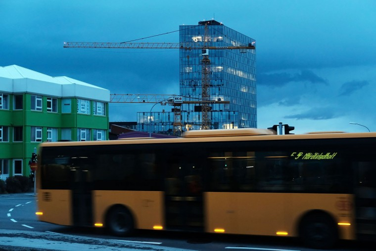 REYKJAVIK, ICELAND - APRIL 05: An evening bus passes along the streets in a residential neighborhood on April 5, 2016 in Reykjavik, Iceland. Icelandic Prime Minister Sigmundur David Gunnlaugsson has stepped down after news broke on Sunday that he had hid his assets in an offshore shell-company whose existence was revealed by the Panama Papers. Numerous leaders around the world as well as wealthy individuals have been caught-up in the developing scandal. The island of just 320,000 people had only recently recovered from the global banking collapse in 2008. (Photo by Spencer Platt/Getty Images)