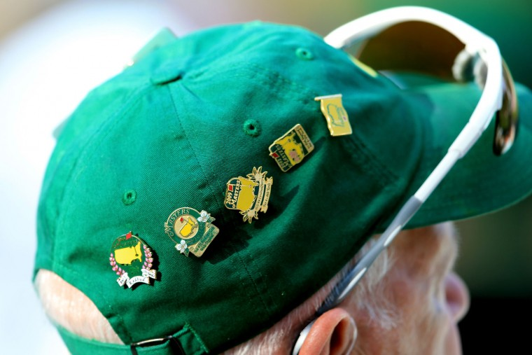A patron's hat is seen during the second round of the 2016 Masters Tournament at Augusta National Golf Club on April 8, 2016 in Augusta, Georgia. (Photo by David Cannon/Getty Images)
