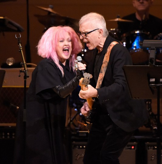 Cyndi Lauper performs onstage during The Music of David Bowie at Carnegie Hall on March 31, 2016 in New York City. (Photo by Kevin Mazur/Getty Images)