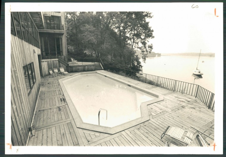 Private pool in the Arnold Alexander home, August 10, 1980.