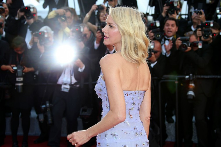 Actress Naomi Watts poses for photographers upon arrival for the screening of the film Cafe Society and the Opening Ceremony at the 69th international film festival, Cannes, southern France, Wednesday, May 11, 2016. (AP Photo/Joel Ryan)