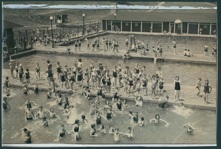 Gwynn's Falls Swimming Pool, June 27, 1938. (Baltimore Sun)