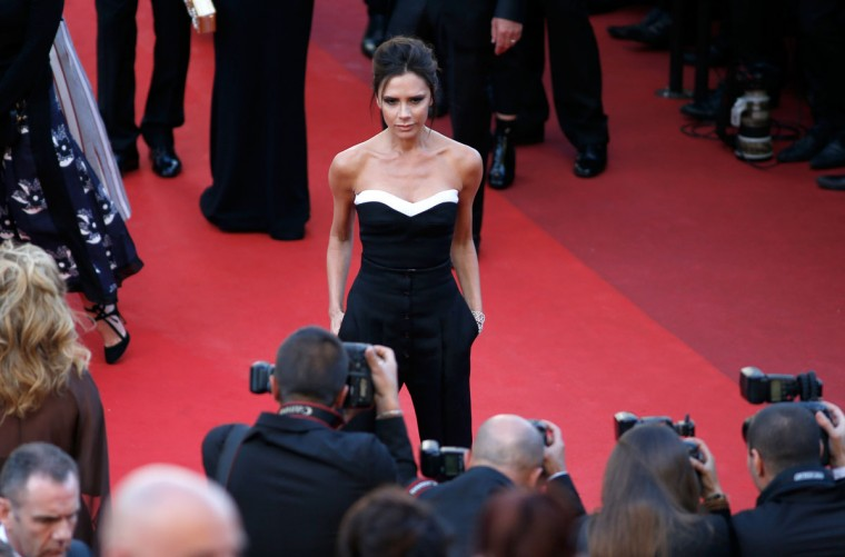 """CANNES, FRANCE - MAY 11: Victoria Beckham attends the """"Cafe Society"""" premiere and the Opening Night Gala during the 69th annual Cannes Film Festival at the Palais des Festivals on May 11, 2016 in Cannes, France. (Photo by Tristan Fewings/Getty Images)"""