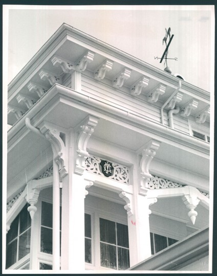 """""""It was really a curious, whimsical building,"""" Kelly says of the old clubhouse. """"It just looked so much like a Victorian summer hotel and it sort of cried out for women in white dresses and men in straw hats."""""""