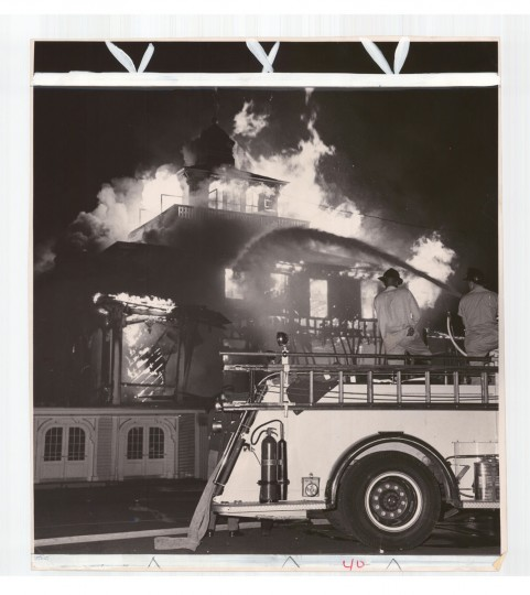 """""""There is a very distinctive smell when a Baltimore building burns, and it's an old building,"""" says Kelly. That smell was in the air the night of June 17, 1966, when the Pimlico clubhouse burned to the ground."""