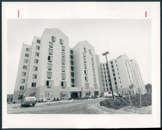 New dormitories under construction, 1991.
