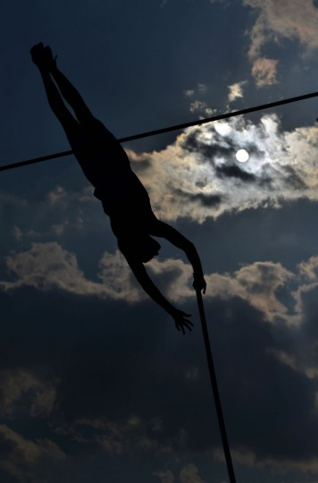 Robert Renner of Slovenia competes during the Men's Pole Vault event at the IAAF World challenge Zlata Tretra (Golden Spike) athletics tournament in Ostrava, on May 20, 2016. (AFP Photo/Michal Cizek)