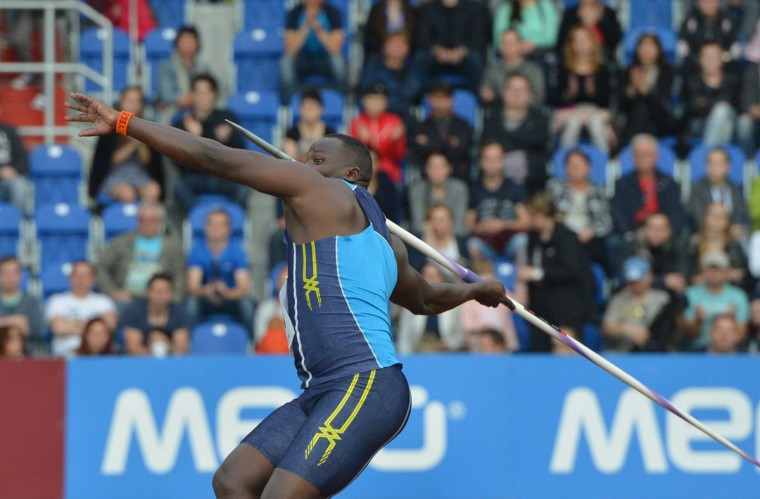 Julius Yego of Kenya competes during the men's Javelin Throw competition at the IAAF World challenge Zlata Tretra (Golden Spike) athletics tournament in Ostrava, on May 20, 2016. (AFP Photo/Michal Cizek)