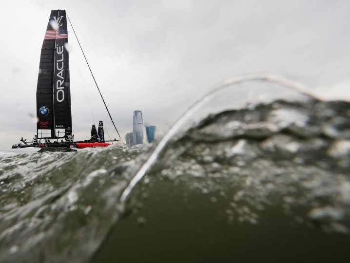 Oracle Team USA sails during Day 1 of the Louis Vuitton America's Cup World Series Race on May 7, 2016 in New York City. (Photo by Al Bello/Getty Images)