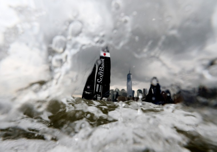Softbank Team Japan sails during Day 1 of the Louis Vuitton America's Cup World Series Race on May 7, 2016 in New York City. (Photo by Al Bello/Getty Images)