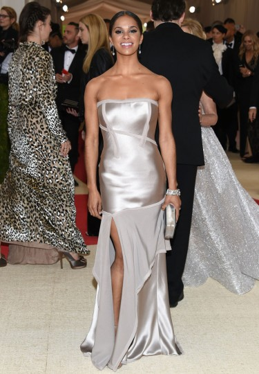 """Misty Copeland arrives at The Metropolitan Museum of Art Costume Institute Benefit Gala, celebrating the opening of """"Manus x Machina: Fashion in an Age of Technology"""" on Monday, May 2, 2016, in New York. (Photo by Evan Agostini/Invision/AP)"""