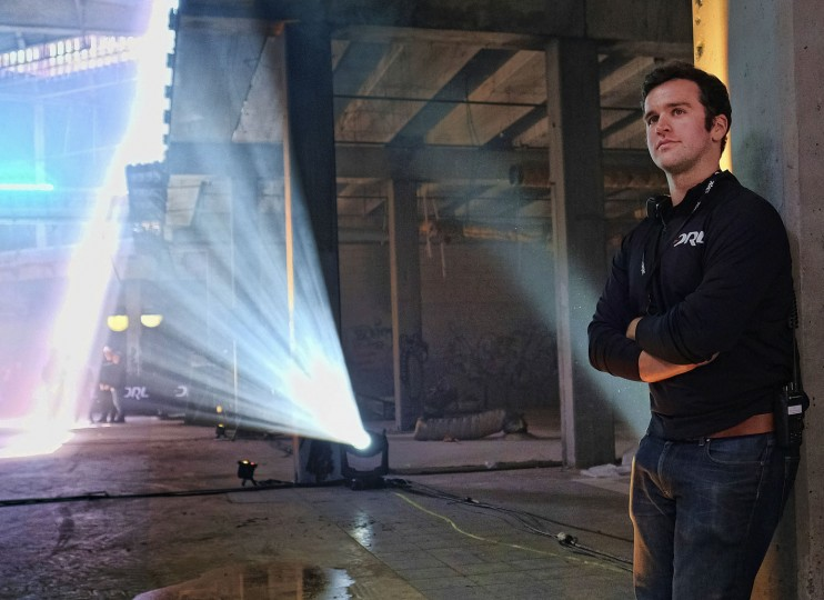 "In this March 19, 2016, photo, Drone Racing League founder and CEO Nicholas Horbaczewski poses for a photo in an vacant mall in Hawthorne, Calif. Horbaczewski is betting he can the transform drone racing from a throw-down among hobbyists into a mainstream spectacle. ""To translate from a participatory sport to a professional sport that has a widespread audience, you have to put a lot of thought into how you're going to do that. And that's what we really focus on here at DRL,"" he said. (AP Photo/Richard Vogel)"