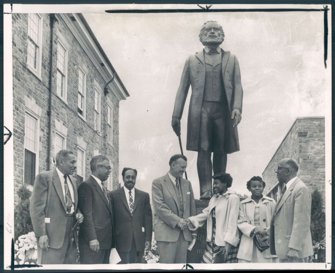 Dedication of statue of Frederick Douglass, 1956.