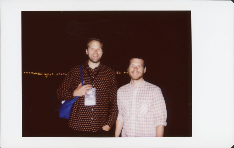 "Left unknown, right is Josh Locy, director of MDFF 2016 Closing Night film ""Hunter Gatherer"""
