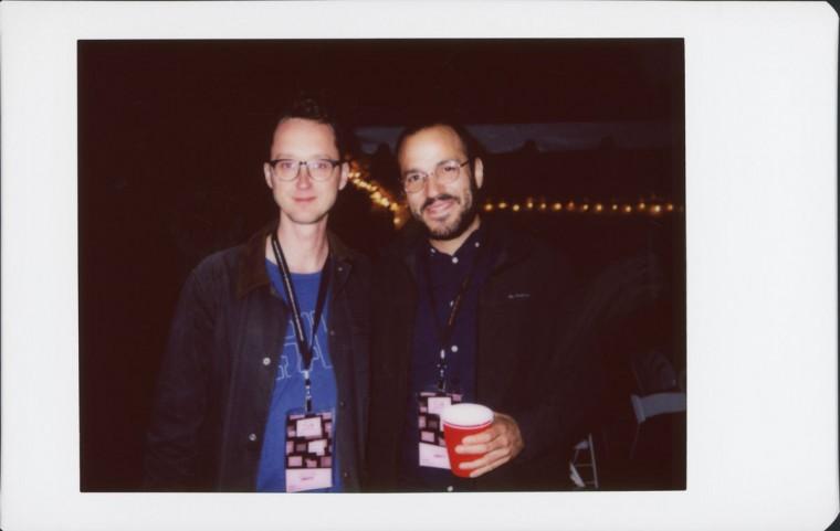 "Matt Porterfield (director of MDFF features ""Hamilton,"" ""Putty Hill"" and ""I Used to be Darker"") on left; Juan Pablo González, director of ""La Espera"""