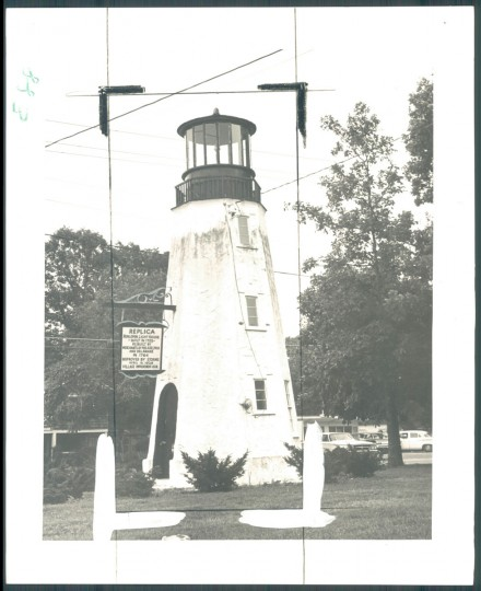 Replica of Henlopen Light House. August 12, 1964. (Kniesche/Baltimore Sun)