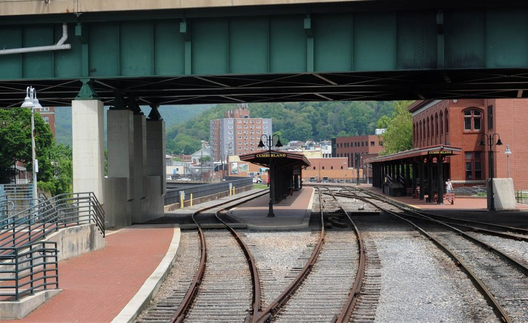 This is a view of the Western Maryland Scenic Railroad's Cumberland station, where passengers embark for trips on the scenic railroad, which runs between Cumberland and Frostburg. (Barbara Haddock Taylor, Baltimore Sun)