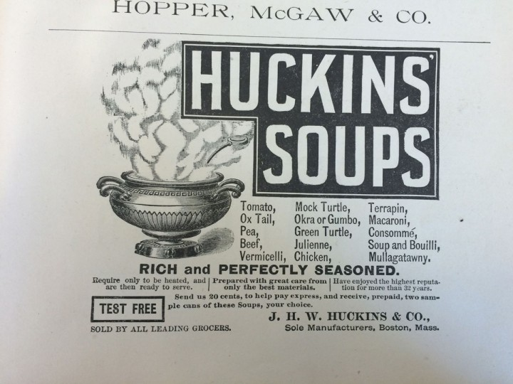 An 1890 advertisement for terrapin soup, once considered a delicacy in Maryland. (Christina Tkacik/Baltimore Sun)