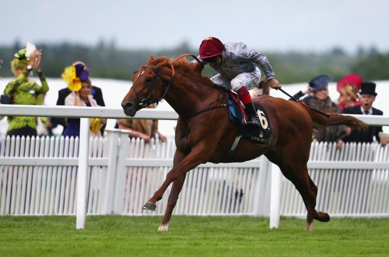 Frankie Dettori winner of The St Jame's Palace Steaks riding Galileo Gold during day 1 of Royal Ascot at Ascot Racecourse on June 14, 2016 in Ascot, England. (Photo by Charlie Crowhurst/Getty Images for Ascot Racecourse)
