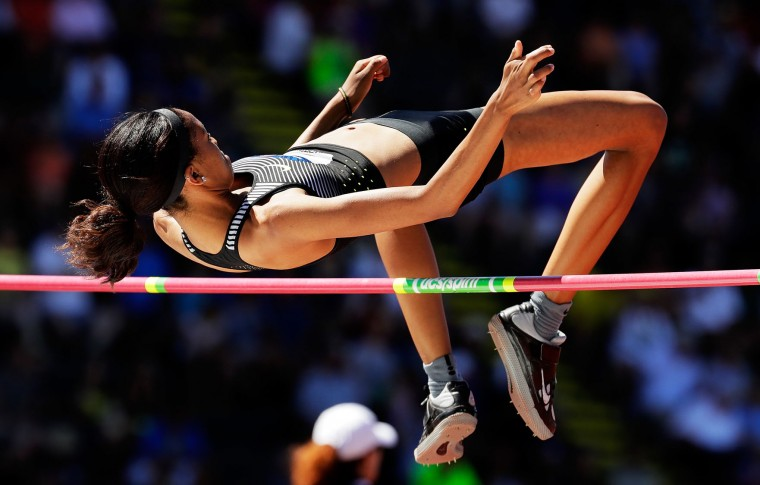 Vashti Cunningham competes in the Women's High Jump Final during the 2016 U.S. Olympic Track & Field Team Trials at Hayward Field on July 3, 2016 in Eugene, Oregon. (Photo by Andy Lyons/Getty Images)