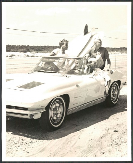 Surfers ride Ocean Highway in search of waves to ride, Ocean City, MD. September 15, 1964. (Cook/Baltimore Sun)