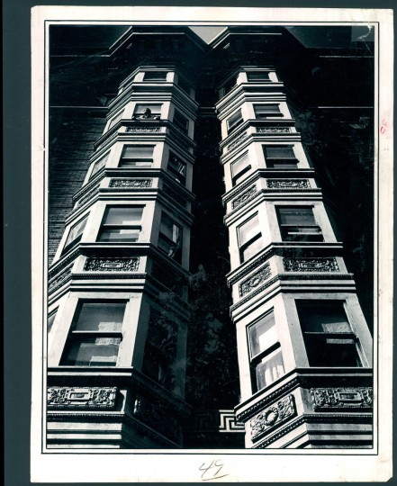 May 27, 1965 - THIS IS BALTIMORE -- Bay windows in the morning light. A type of architecture that has all but disappeared from the Baltimore scene. Photo by Robert F. Kniesche