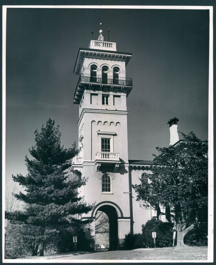 The Mansion House Clifton Park was once the residence of Johns Hopkins. (1963)