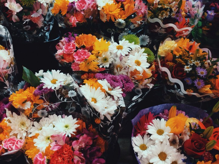 Some of The Flower Shop bouquets, but I just choose some more cut stems to work with.