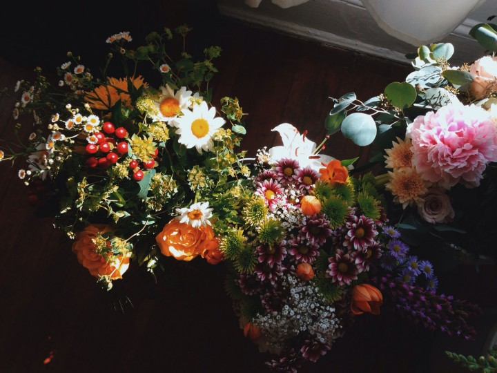 More bouquets, back home.
