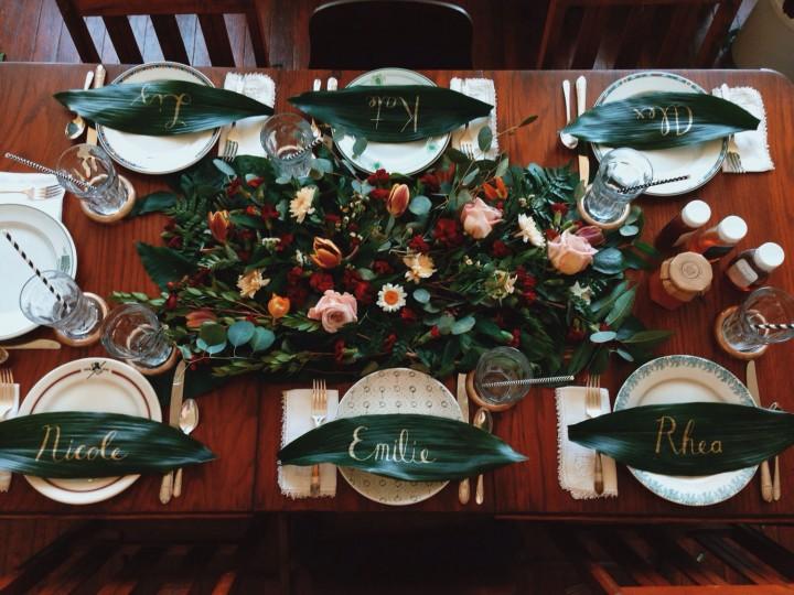 I love setting the table.