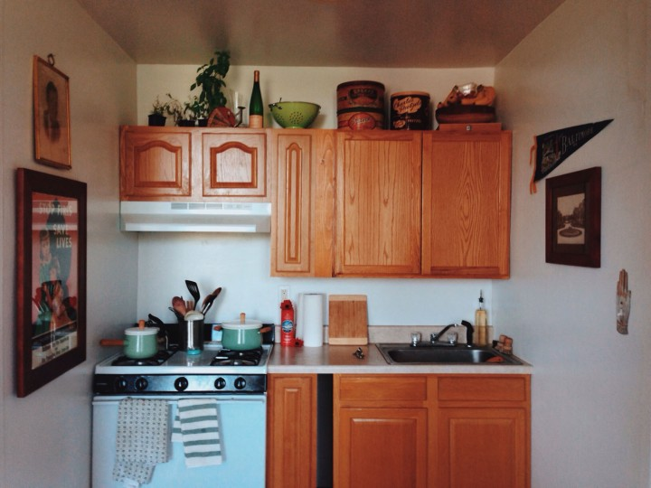 I resort to sticking everything that was on the island on top of my cabinets, before cooking.