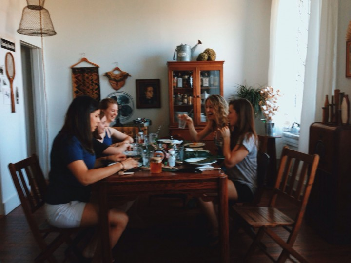 To me, there's few things better than sitting around a table with friends.