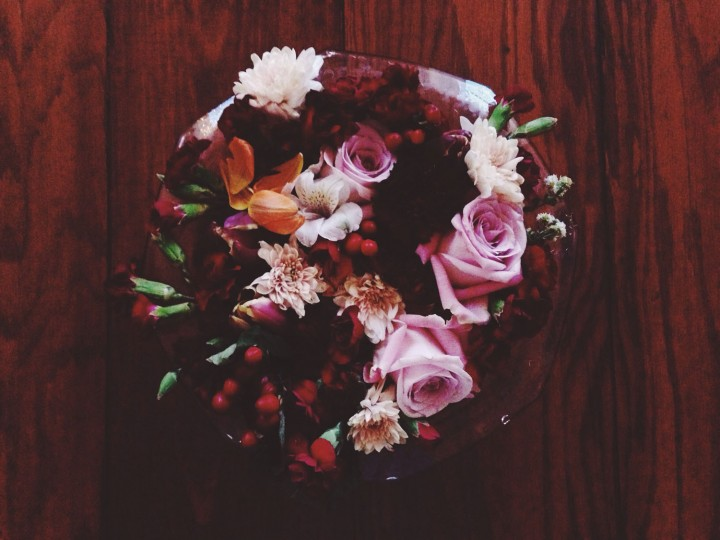 Bowl full of blooms plucked out of the runner.