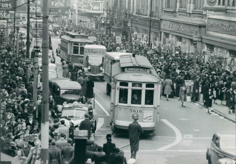 The Baltimore streetcars were discontinued in 1963. (Baltimore Sun)