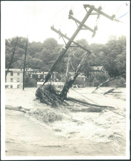 Flooding during Hurricane Agnes, July 17, 1972. (Cook/Baltimore Sun)
