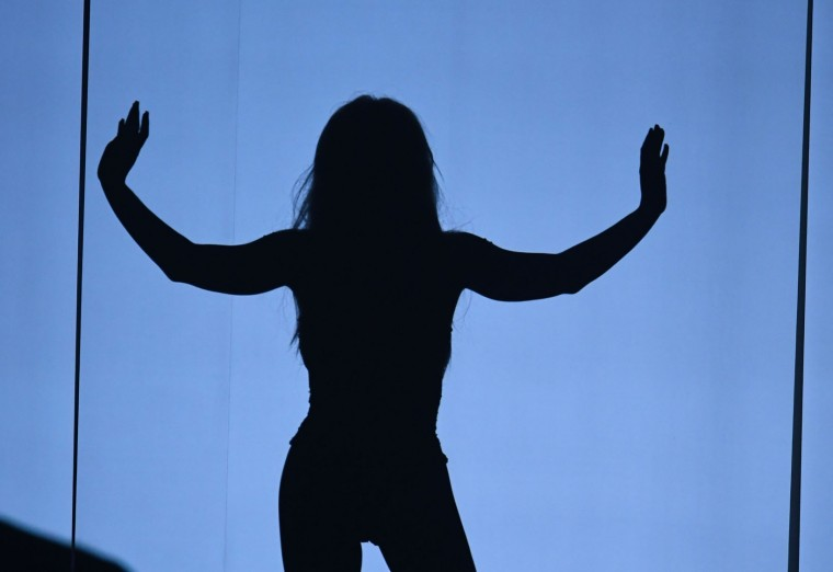 US singer Britney Spears performs on stage during the 2016 MTV Video Music Awards August 28, 2016 at Madison Square Garden in New York. (Jewel Samad/AFP/Getty Images)
