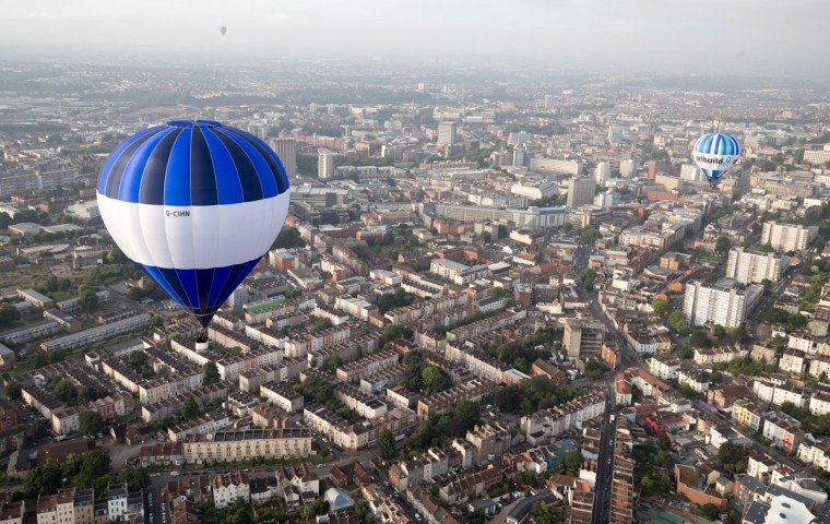 Hot air balloons take to the skies at a preview flight to launch next week's Bristol International Balloon Fiesta on August 5, 2016 in Bristol, England. The four day event event, which will officially open next week on Thursday, is now in its 38th year and is Europe's largest annual hot air balloon event in the city that is seen as many as the home of modern ballooning. (Photo by Matt Cardy/Getty Images)