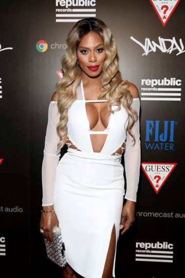 Actress Laverne Cox attends a celebration with Republic Records and Guess after the 2016 MTV Video Music Awards at Vandal with cocktails by Ciroc on August 28, 2016 in New York City. (Photo by Rob Kim/Getty Images for Republic Records)